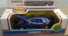 Vintage Ertl 1:25 Diecast Chevy Z-28 Camaro Toy Car, NIB New Blue Sports Car HTF