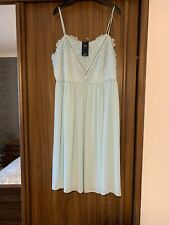 BNWT STUNNING DUCK EGG SPECIAL OCCASION  DRESS M&S 20