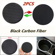 2*Carbon Fiber Car Dashboard Water Cup Slot Non-Slip Mat  Adsorption Elasticity