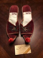 Izmir Vanli Vintage 1950s Or 60s Turkish Traditional Shoes Womens Size 39 New