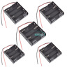 5PCS For 4 X AA 4xAA 2A 6.0V Wire Leads Plastic Battery Storage Case Box Holder