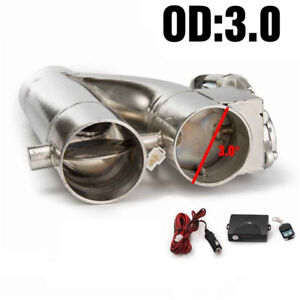 """Electric Exhaust Dump 3"""" Cutout E-cut Out Bypass Switch Dual-Valve System"""