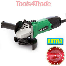 "Hitachi G12ST 115mm / 4.5"" Electric Angle Grinder 580W 240V with Diamond Blade"