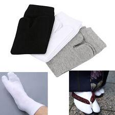 3 Pairs Unisex Split Toe Socks Kimono Flip Flop Japanese Sandal Tabi Ninja Socks