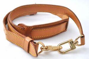 """Authentic Louis Vuitton Leather Shoulder Strap Beige 40.0-47.2"""" LV B8395"""