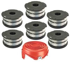 Replacement Spool 6 Pack for Black and Decker DF-065 + Bump Cap