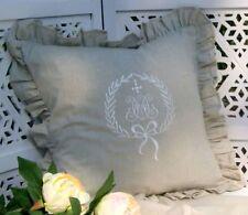Kissenbezug Amalie Sand 45x45 bestickt Shabby Chic Landhaus