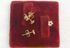 Gold Authentic 18k saudi gold baby earrings,,r
