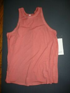 Lululemon ALL TIED UP TANK SUBLIMADO PIGMENT DYE RUSTIC CORAL SZ 6 NWT