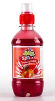 Slush Syrup 330ml w/ 5 Reusable Slush Puppy style drinks Pouches 2 Flavours