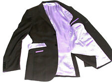 MENS OZWALD BOATENG BESPOKE COUTURE SAVILE ROW PINSTRIPE SUIT 38R W32 X L32