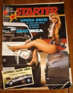 STARTER 1984 LUGLIO  N°23 - SEAT IBIZA - DOVAL SHADOW - PININFARINA