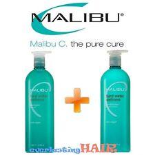 MALIBU C HARD WATER SHAMPOO & CONDITIONER LITER DUO WITH PUMPS - 33.8oz