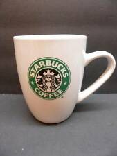 Starbucks 2007 Coffee Cup Mugs 12.4 oz White With Green Mermaid Logo