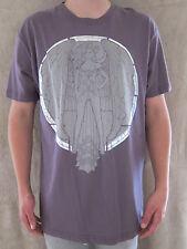 MARC ECKO White Purple & Gold Foil Angel Glass 100% Cotton T Shirt XLARGE NWOT