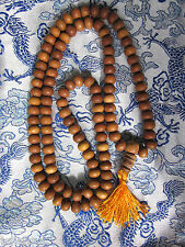 TIBETAN BUDDHIST GENUINE 8MM SANDALWOOD MALA PRAYER BEADS FARM RAISED INDIA