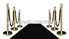 VIP BLACK CARPET COMBO SPECIAL (6-GOLD POSTS + 4-ROPES + 1-3'X10' BLACK CARPET)