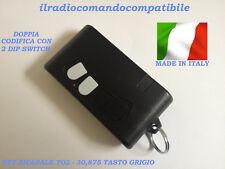 RADIOCOMANDO COMPATIB. BFT TO2 30,875 MHZ BICAN. CODIF. 2 DIP SWITCH (T.GRIGIO)