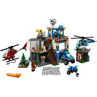 New Custom City Mountain Police Headquarters Compitible Lego 60174 + Manual Book