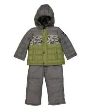 Weatherproof Infant Boy Green and Gray Coat & Pants Set Snowsuit (12months)