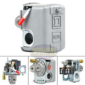 Square D 4 Port 135-175 PSI Air Compressor Pressure Switch 9013FHG44J59M1X New