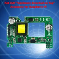 PoE Active Power Over Ethernet HAT Accessories for Raspberry 3 B+ and 4 Pi BS2