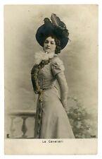 1900s LINA CAVALIERI Italian Opera Star Singer Soprano vtg Photo Postcard