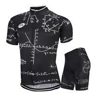 Men's Team Cycling Jersey Shorts Kits Geometry Bike Race Outfits Shirt Pants Set