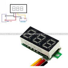 """0.28"""" LED DC 0-100V Voltmeter Digital Display Voltage VOLT METER 12V 24V Yellow"""