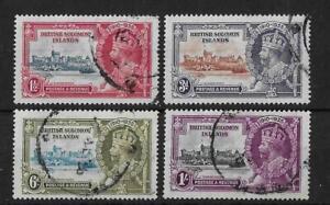 (11) Br Solomon islands 1935 Silver Jubilee SG53-56 Fine Used Cat£45