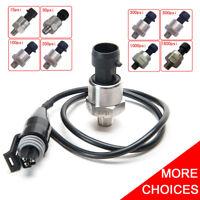 5V Fuel Pressure Transducer Sender 15/100/200/1000/1600 Psi For Oil Air Water
