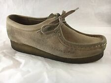 Clarks Originals Womens Wallabee Tan Beige Suede Casual Lace Up Shoes Size 7M