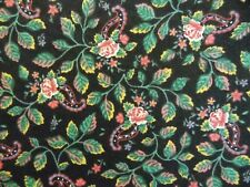 Fabric Springs Flower Floral Paisley Vintage Calico Country Cottage Quilting