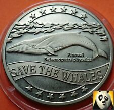 1995 WWF Fin Whale Balaenoptera Physalus Ecu for Nature Coin Medal Crown Size