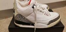 Nike Air Jordan 3 III Retro White Cement Gray Fire Red Sz. 10 136064-105
