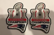 2-NEW ENGLAND PATRIOTS SUPER BOWL 51 CHAMPIONS embroidered iron on  Patches!