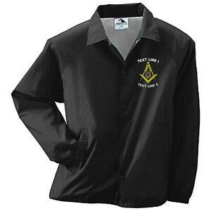 Masonic / Mason / Freemason Embroidered Coaches Jacket / Windbreaker 089-3100