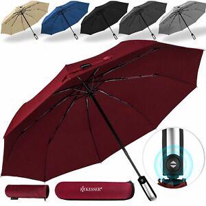 KESSER® Regenschirm Auf-Zu-Automatik stabil sturmsicher Taschenschirm mit Etui
