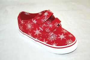 Vans Atwood V Snowflakes Red Infant/Toddler Shoes 2 STRAP