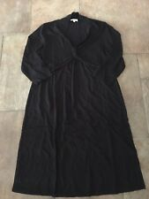 PLUS SIZE MATERNITY 18 - Black Stretch Stylish Dress Brand New In Pack BNWOT