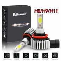 2x Mini H11 H9 H8 LED Headlight Bulb Kit Low Beam Fog Light 72W 6000K 8000LM