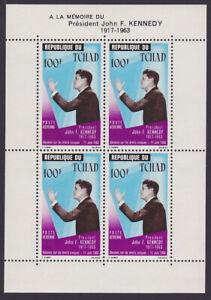 Chad SC# C20a Mint NH 1964 Kennedy Memorial Souvenir Sheet (N_26)