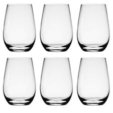 European Glassware 6 Stemless Wine Glasses 19 oz.