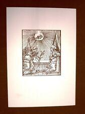 Litografia Natale Annunciazione Biblia Sacra del 1574 Ristampa
