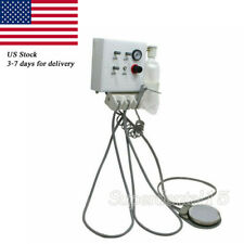 Dental Turbine Unit Portable Work Hanging Wall Work With Air Compressor 4 Hole