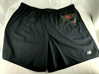 New Balance Mens Core 7 Inch Woven Running Shorts Black Size XXL 2XL Black NWT