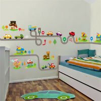 Stickers Track Rooms Kids Play Room Bedroom Decor Wall Sticker Decals