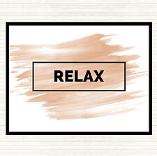 Watercolour Relax Boxed Quote Dinner Table Placemat