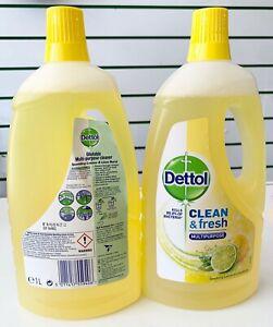 2X DETTOL CLEAN & FRESH MULTIPURPOSE SPARKLING LEMON LIME KILLS 99% BACTERIA