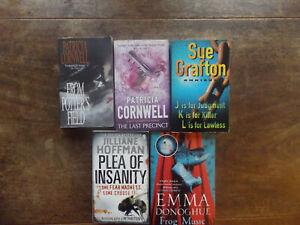 CORNWELL, GRAFTON, HOFFMAN 5 BOOK BUNDLE - MURDER MYSTERY CRIME THRILLERS